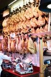 Jamon de viande sur le marché espagnol Image stock