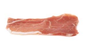 Jamon ham slice isolated Royalty Free Stock Photography