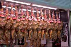 Jamon Iberico Store Royalty Free Stock Images