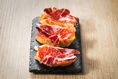 Jamon iberico tapas Stock Images