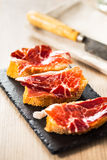 Jamon iberico tapas Royalty Free Stock Images