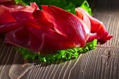 Jamon with salad Stock Image