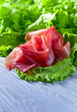 Jamon with salad Stock Images