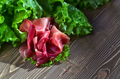 Jamon with salad Stock Photo