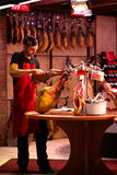 Jamon seller Royalty Free Stock Photo