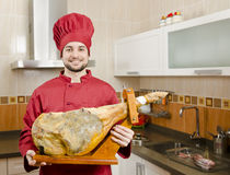 The jamon serrano Stock Photo