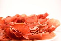 Jamon Serrano. Typical Spanish snack, known as tapas stock photos