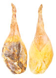 Jamon serranowhole leg Spanish ham isolated over Royalty Free Stock Photography