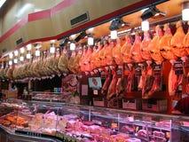 Jamon-Shopmarkt in Madrid, Spanien lizenzfreie stockbilder
