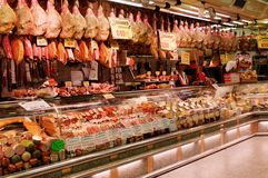 Jamon store royalty free stock image