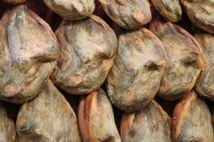 Jamon sur le marché de nourriture à Valence Photographie stock libre de droits