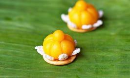 Jamonkut is een traditioneel Thais dessert Stock Foto