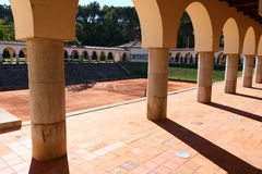Jamor portugal tennis court Royalty Free Stock Photography