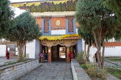 Jampey Lhakhang temple, Chhoekhor, Bhutan Stock Photo