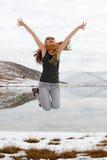 Jamping girl Stock Image