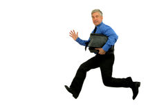 Jamping man. Jumping man on a wite background Stock Image