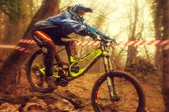 Jamping rider Stock Image