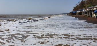Jampore-Strand, daman, Gujarat, Indien lizenzfreie stockbilder