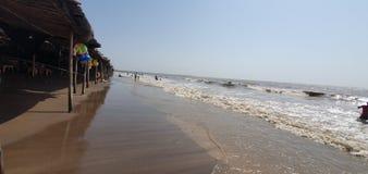 Jampore-Strand, daman, Gujarat, Indien lizenzfreies stockbild