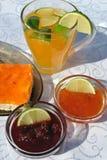 Jams And Fresh Juice Royalty Free Stock Photos