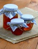 Jams And Jellies In Glass Jars Stock Photos