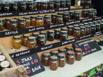 Jams and Marmalade - British Market Royalty Free Stock Photography