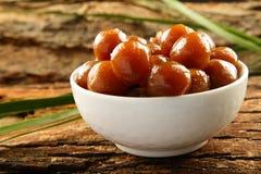 Jamun dulce del gulab de la comida del vegano de Diwali del indio Fotos de archivo libres de regalías