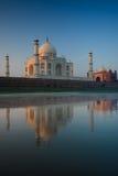 Jamuna River Reflection Empty Taj Mahal at Sunrise Royalty Free Stock Photo