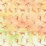 jamy obrazu wzór bezszwowy Zwierzęta z akwareli teksturą Fotografia Royalty Free