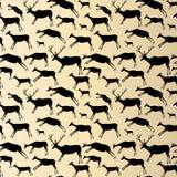 jamy obrazu wzór bezszwowy Zwierzęta z akwareli teksturą Zdjęcia Stock