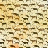 jamy obrazu wzór bezszwowy Zwierzęta z akwareli teksturą Obrazy Stock