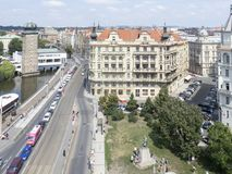 Janáčkovo Blvd, Prague Stock Photos