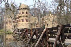 Janův hrad, 1月的城堡, Lednice,捷克,摩拉维亚 库存图片