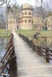 Janův hrad, 1月的城堡, Lednice,捷克,摩拉维亚 免版税图库摄影