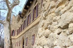 Janův hrad, 1月的城堡, Lednice,捷克,摩拉维亚 免版税库存照片