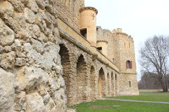 Janův hrad, 1月的城堡, Lednice,捷克,摩拉维亚 免版税库存图片