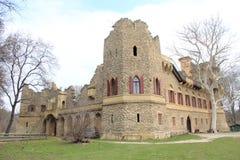 Janův hrad, 1月的城堡, Lednice,捷克,摩拉维亚 库存照片