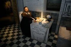 Jan Amos Komensky dans le musée de Grevin des chiffres de cire à Prague Photos stock