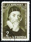 Jan Amos Komensky John Amos Comenius, philosophe tchèque, pédagogue et théologien, vers 1958 Photos stock