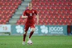 Jan Baranek. PRAGUE 31/03/2015 _ Jan Baranek. Friendly match Czech Reublic U21 - Portugal U21 Royalty Free Stock Images