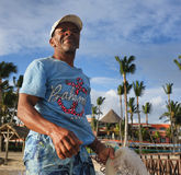 JAN 15, 2017 BAVARO, DOMINICAN REPUBLIC - Unidentified fisherman Royalty Free Stock Photography