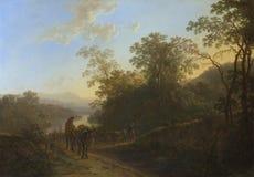 Jan Both - campesinos con las mulas y los bueyes imagen de archivo libre de regalías