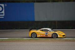 Jan Danis Ferrari 458 utmaning Evo på Monza Royaltyfri Bild