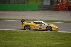 Jan Danis Ferrari 458 utmaning Evo på Monza Arkivfoto