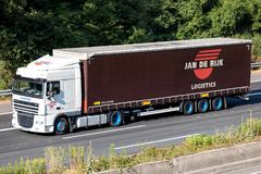 Jan de Rijk truck on motorway stock photos