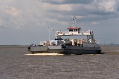 Glueckstadt germnay, ferry on river Elbe Stock Images