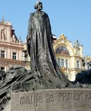 Jan Hus Memorial at the Town Square in Prague, Czech Republic. Jan Hus bronze memorial at the town square in Prague, Czech Republic Stock Image