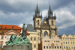 Jan Hus, Church of Our Lady before Tyn, Prague, Czech Republic Stock Images