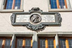 Jan Hus Memorial Arkivfoto