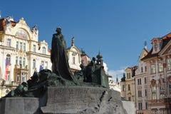 Jan Hus Memorial designed by Ladislav Saloun in Old town squar Stock Photo